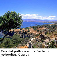 Coastal path near the Baths of Aphrodite, Cyprus